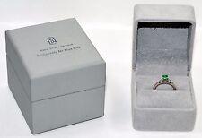 Custom Monique Lhuillier .50ct Colombian Emerald Platinum Ring