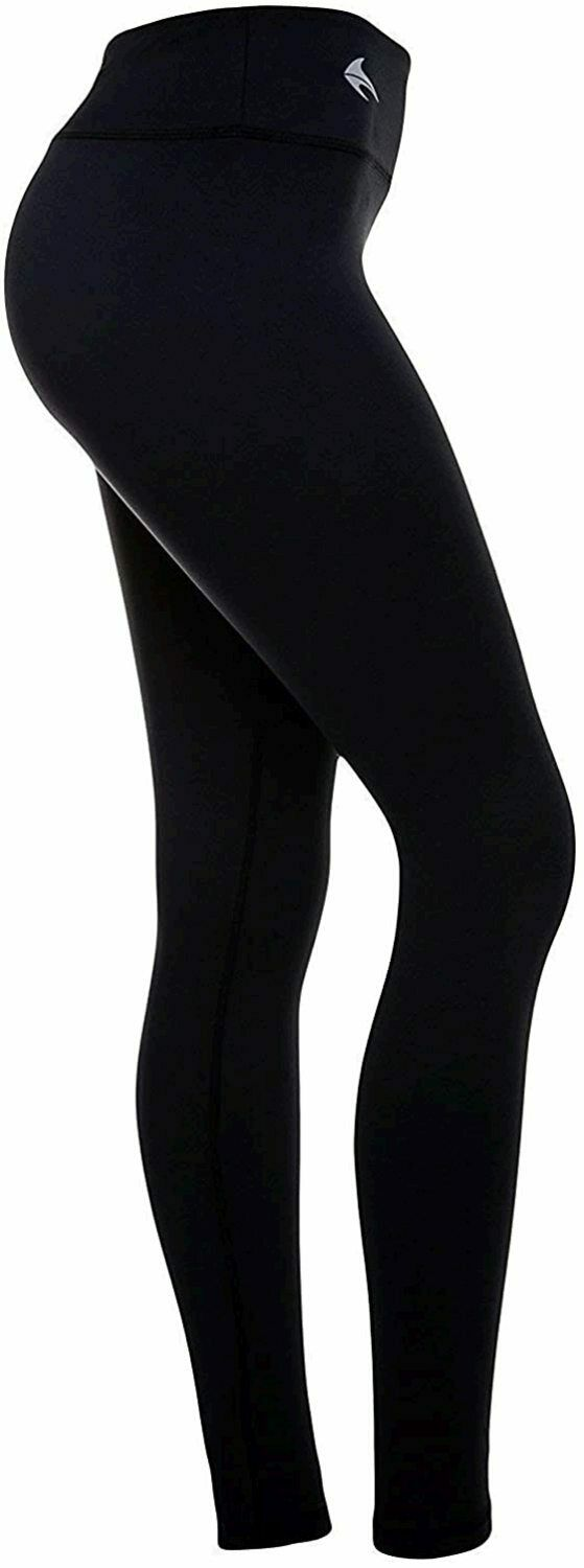 CompressionZ High Waisted Women's Leggings - Smart, Flexible, Black, Size Large