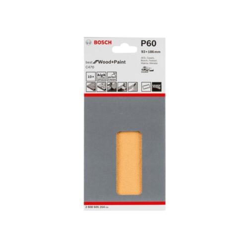 Paint Bosch Schleifpapier Best for Wood C470 93x186 mm 8 Löcher K60 10er VE