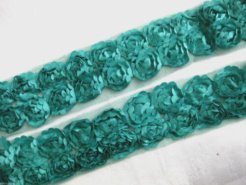 Hübsche Spitze//Bordüre mit Röschen 45 mm breit,in verschiedenen Farben,lfm S40
