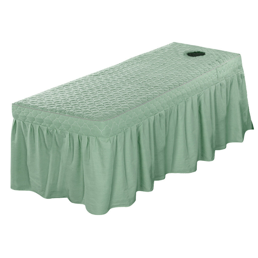 Spa Massage Bed Cover Sheet Beauty Table Skirt with 21  Drop Skirt 75x180cm
