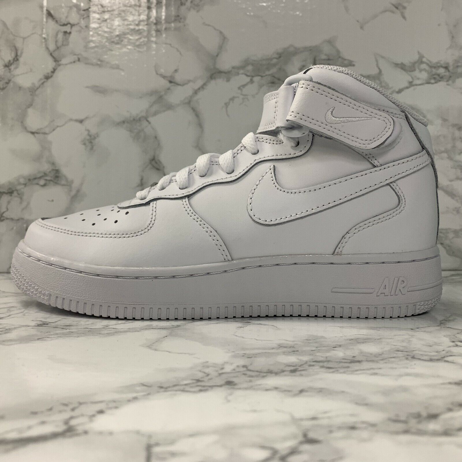 NIKE AIR FORCE ONE 1 MID GS 314195 113 WHITE YOUTH WOMEN SHOES
