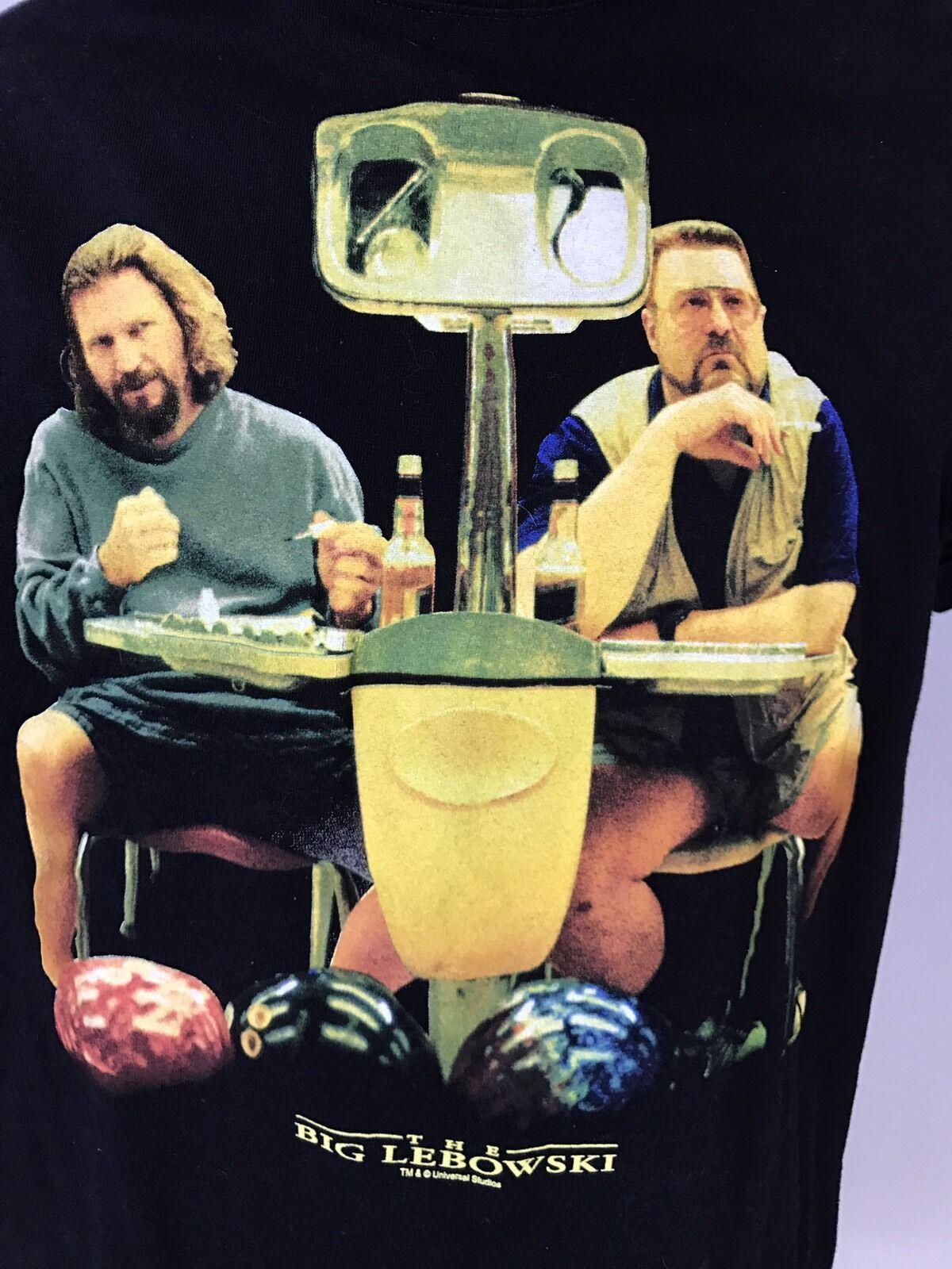 The Big Lebowski Mens Anvil T Shirt SMALL Universal Studios Walter Bowling