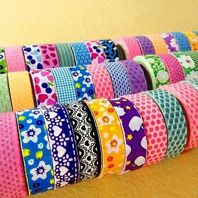Roll DIY Washi Paper Decorative Sticky Paper Masking Tape SELF Adhesive 1.5cm×5M