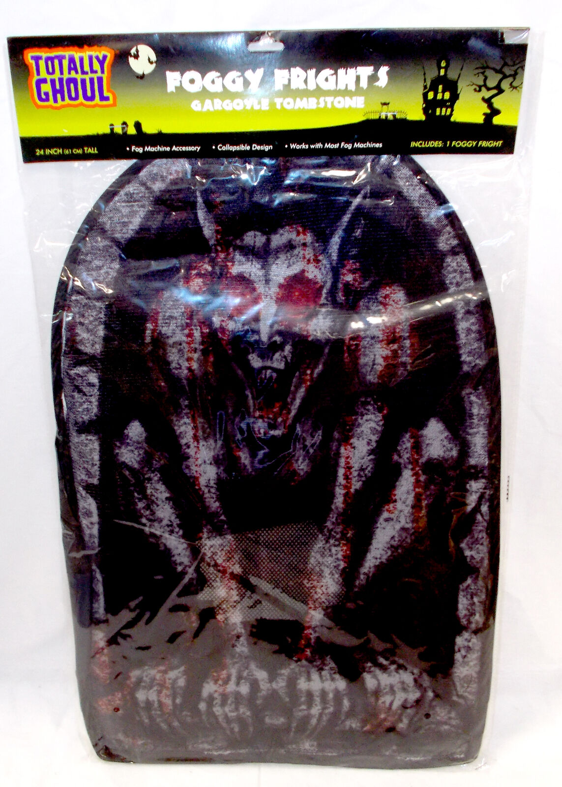 Foggy Frights Skulls Tombstone For Fog Machine Cover 24/' NWT