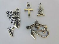 Egyptian Queen God Eye Of Horus Ankh Camel Flower Snake Palm Tree Charm Sets