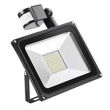 1 pcs 50W LED Flood Work Light PIR Motion Sensor Outdoor Path Lamp Warm White