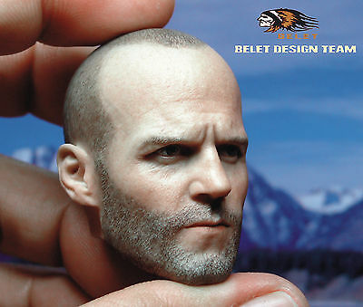 █ Custom Jason Statham 1//6 Head Sculpt for Hot Toys Muscular Body Headplay █