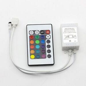 24keys 16 color ir remote controller for input dc 24v 10m rgb strip image is loading 24keys 16 color ir remote controller for input mozeypictures Images