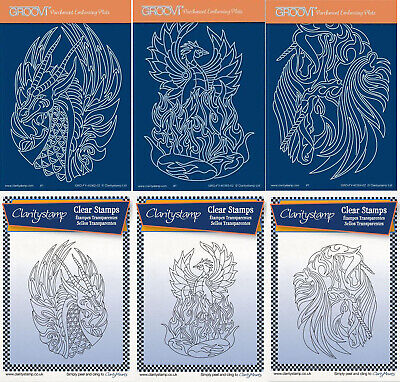 Clarity Stamps Groovi Parchment Embossing Gentlemen's Collection