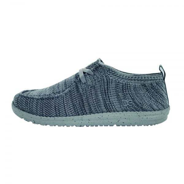 Hey Dude shoes Men's Wally Knit Multi Grey Slip On Casual Loafers