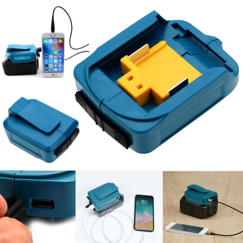 UK 2 USB Port Phone Charger Adapter Battery For Makita 18V 14.4V BL1830//1430