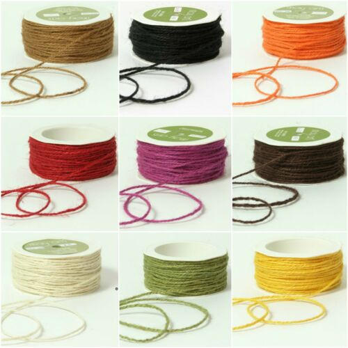 May Arts 2mm Twisted Burlap//Jute String//twine 9 Colours 3 FOR 2