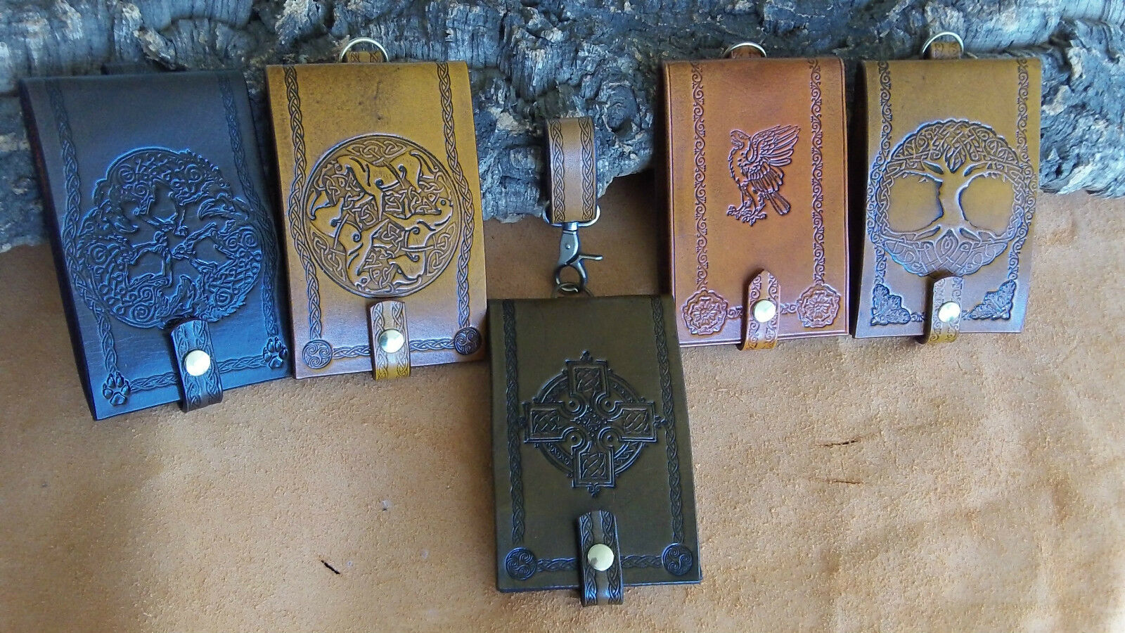 Personalised embossed leather archery score pad cover, scorepad