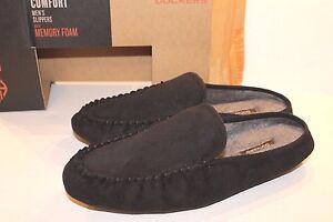 Men's Dockers Black Memory Foam Classic Slippers Size M Medium 8 - 9 NEW