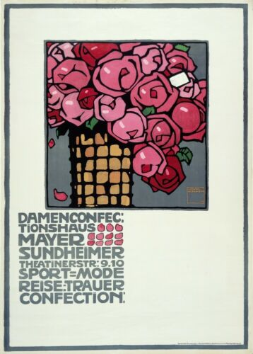 Mayer Sundheimer 1909 LUDWIG HOHLWEIN German Poster Damenconfectionhaus