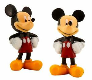 Mickey Mouse Figurine, Toy, Cake Topper (2 Pack, 3 in ...
