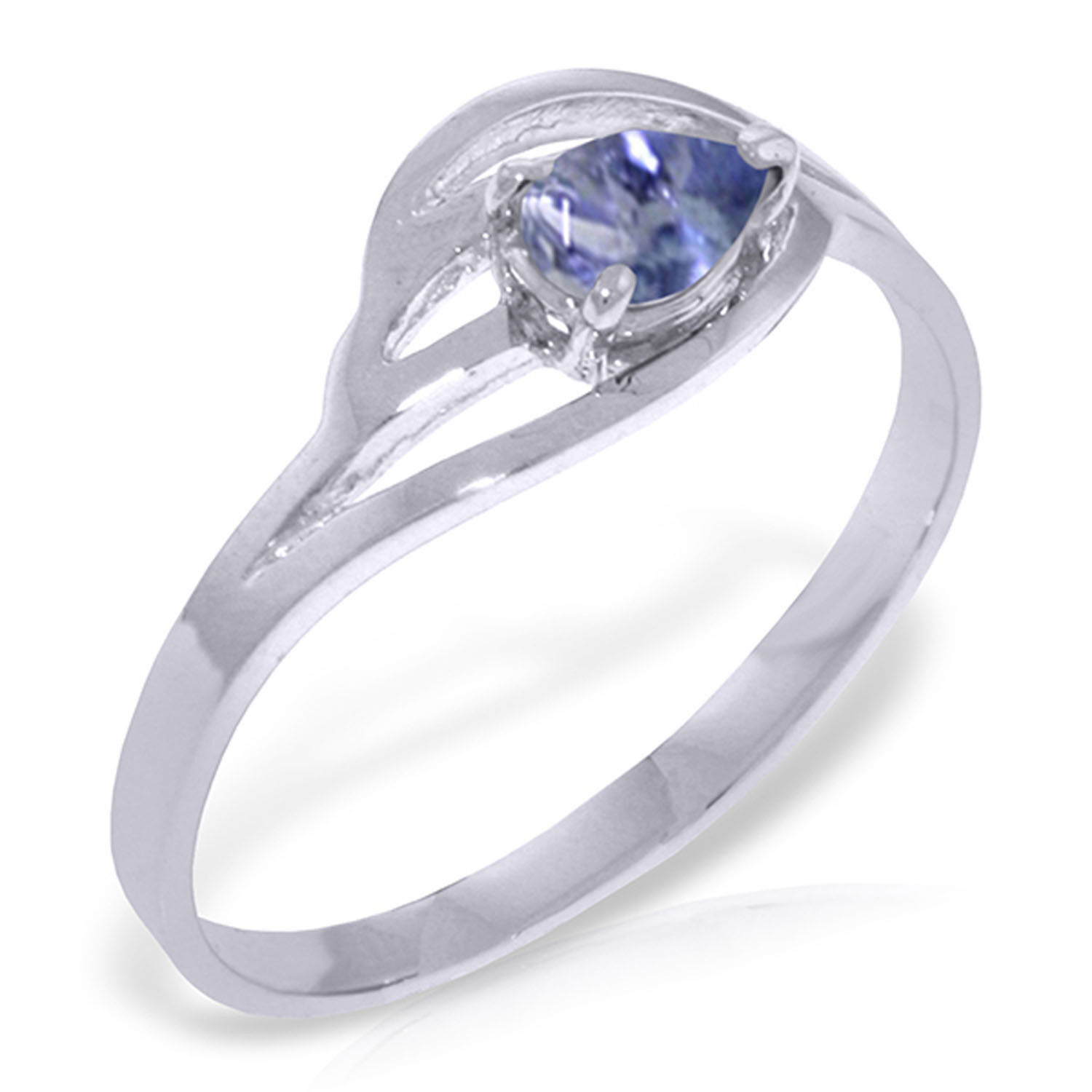 Brand New 0.3 CTW 14K Solid White gold Ring Natural Tanzanite