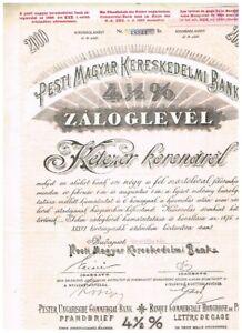 Pester Ungarische Commercial Bank, Budapest 1910, 2000 Kronen, VF