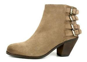 f03dfbde4f6e40 Image is loading Sam-Edelman-Lucca-Suede-Buckle-Bootie-Brown-Women-