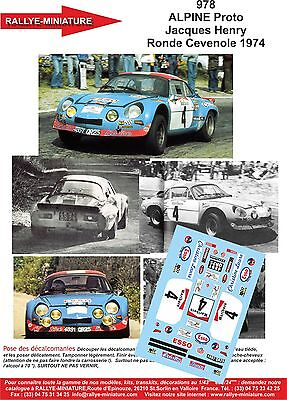 DECALS 1//43 REF 559 ALPINE RENAULT A110 THERIER RALLYE ACROPOLE 1973 RALLY WRC