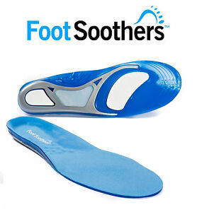 2 Pairs Work Boots Orthotic Foot Arch Gel Heel Support Shoe Inserts Insole