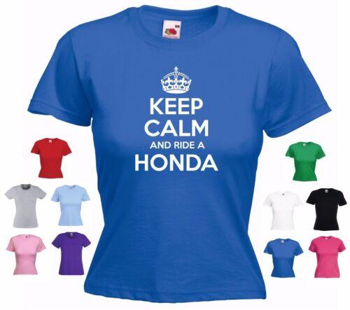 """/""""Keep Calm Et Monter un Honda/"""" Civic Accord CRX Prelude Drôle Cadeau Femmes T-Shirt"""