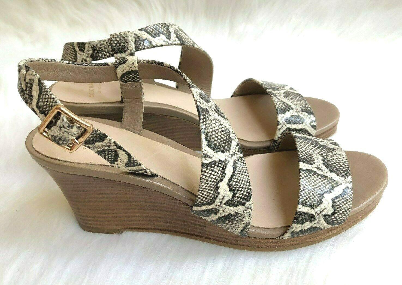 Para mujer Cole Haan  Ravenna 'Sandalias de cuña de cuero Roccia Serpiente Diseño B