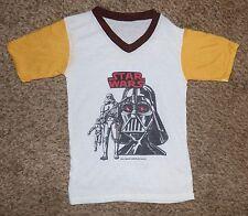 Vintage Childs Star Wars 1977 Movie Ringer T Shirt Darth Vader, Stormtroopers