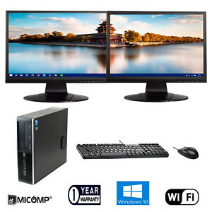 Hp-Desktop-Computer-PC-Quad-core-i5-8GB-500GB-WiFi-with-Dual-LCD-Windows-10-Pro