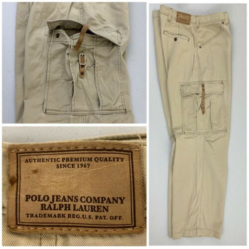 Polo Ralph Lauren Leather Men's Buckle Cargo Beige