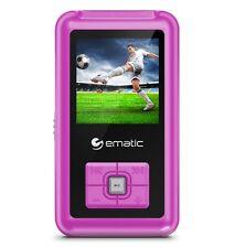 Ematic Em208vid 8 Gb Pink Flash Portable Media Player - Photo Viewer, Video