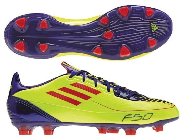 Men's Adidas F30 TRX FG Soccer Cleats - Neon Yellow/Red/Purple - NIB!