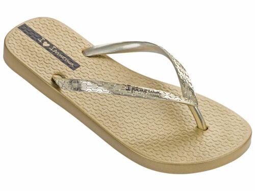 Ipanema Glam Sandal 21 Flipflops In Gold Graphite Rose Silver