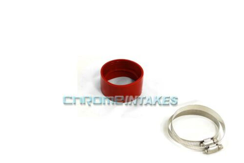"RED 3.5/""-3.5/"" AIR INTAKE//PIPING RUBBER COUPLER FOR NISSAN"