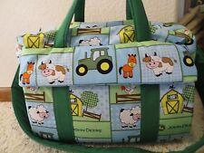 John Deere Farm Animal custom handmade Diaper Bag w/chg pad by EMIJANE embroider