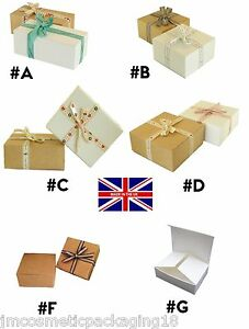 Details About Cardboard Gift Box Flat Pack Jewellery Box Chocolate Giftboxes Made In The Uk
