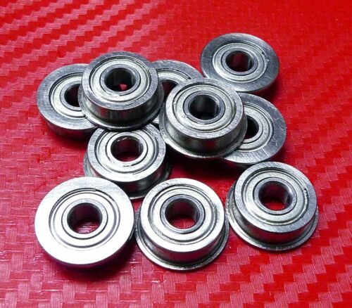 5pcs SF6802zz 15x24x5 mm FLANGED 440c Stainless Metal Shielded Ball Bearings