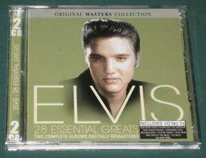 Elvis-Presley-28-Essential-Greats-2-CD-SET-Play-2-055-2008-Like-New