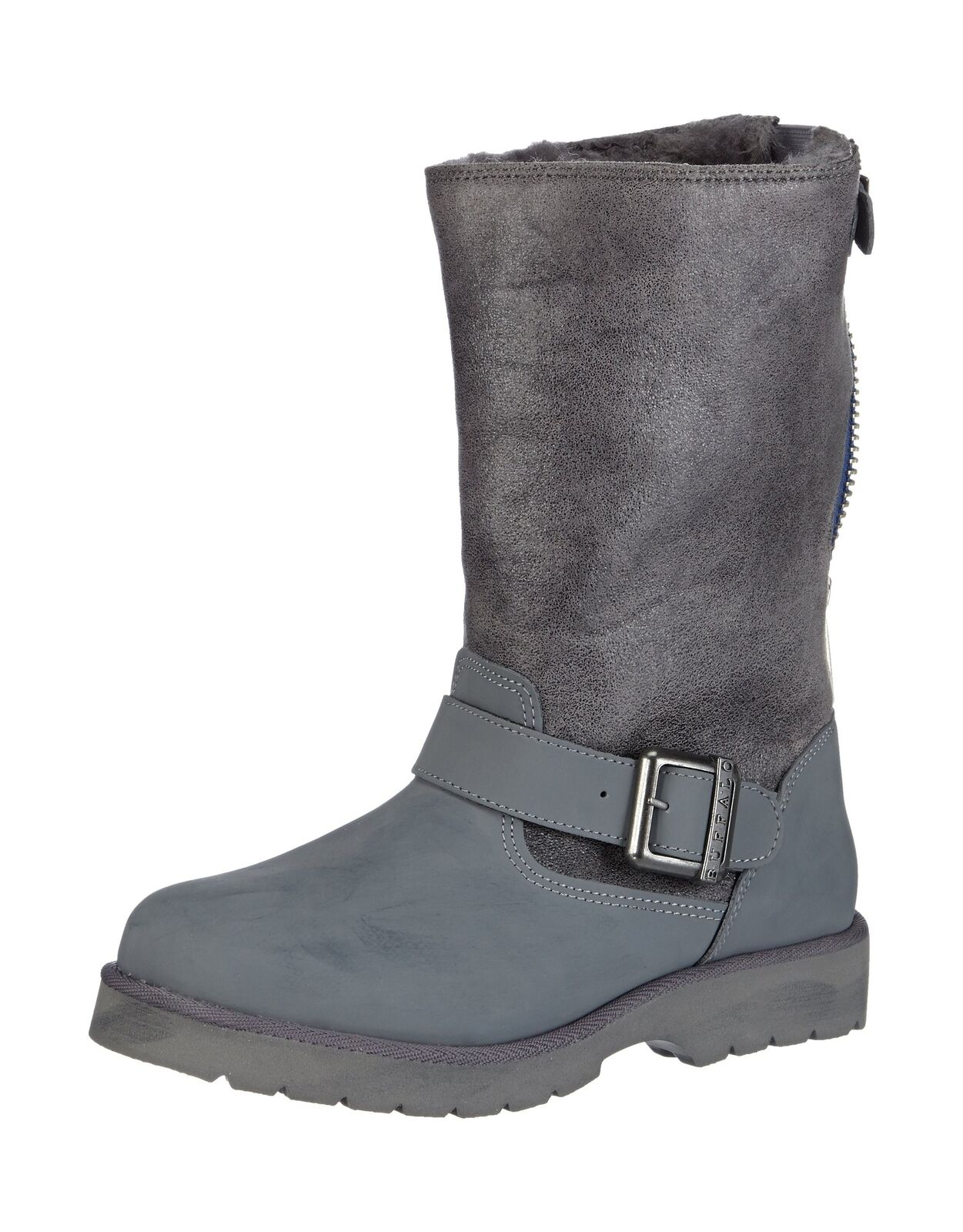 Buffalo 12844 Action Nubuck Hedosa, Women's Boots Grey (Grey299) 4.5 UK