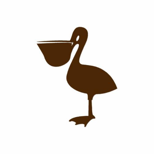 ebn515 Vinyl Decal Sticker Multiple Color /& Sizes Pelican Shoebill Bird
