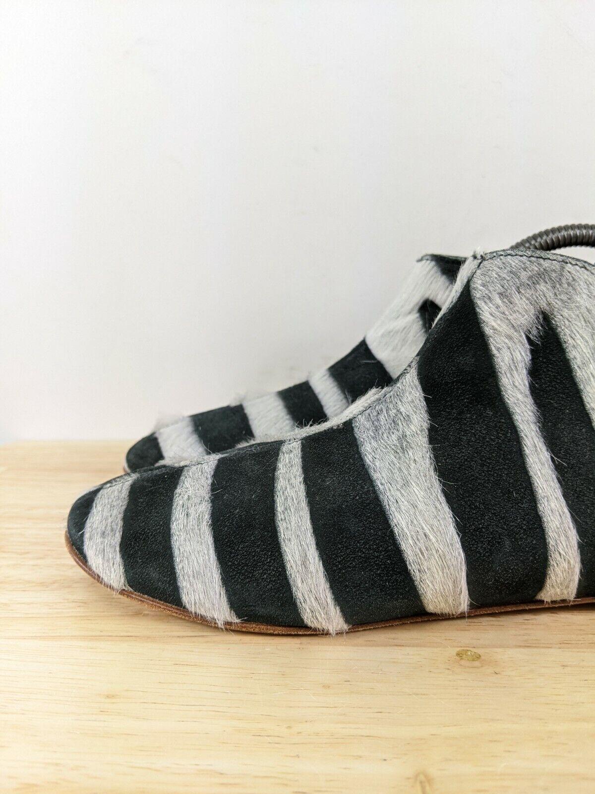 Collection Privee Black Zebra Pony Hair Chelsea B… - image 3