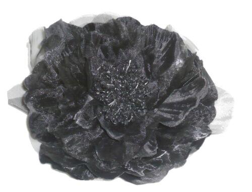Fleur en tissus noire N°4