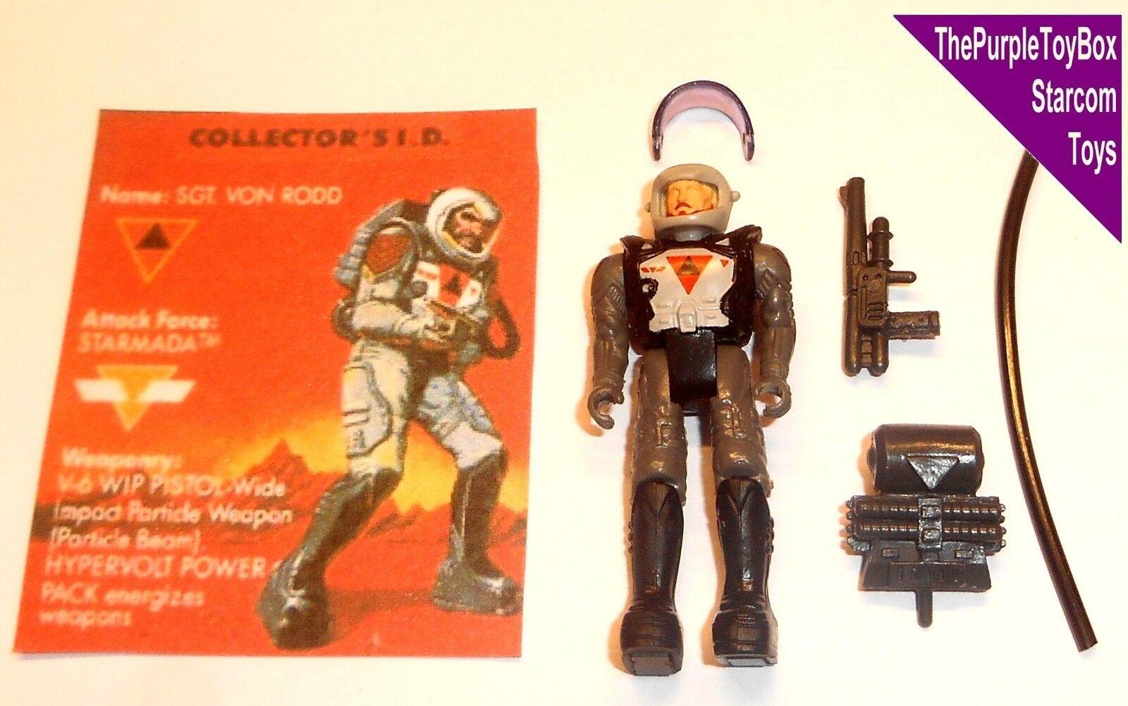 (E017) Vintage Vintage Vintage 1980's Starcom Toys   Figures  SGT. VON RODD  Starmada 17341f