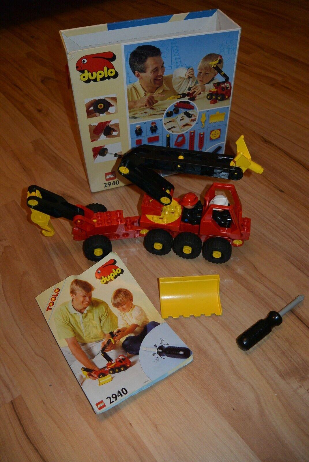 Lego Duplo Toolo Feuerwehrauto Feuerwehrwagen Wasserwerfer Löschfahrzeug 2940OVP