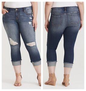 di taglio 26 risvolto a torrido 27946 con torbiera strappati Jeans premium qBZ4t0x