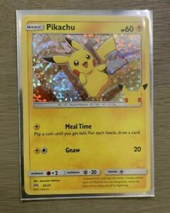 2021 Pokémon Pikachu Holo McDonalds 25th Anniversary Promo Card ERROR DEFECT