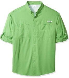 Columbia-PFG-Mens-3XLT-Long-Sleeve-Button-Shirt-3X-Tall-Tamiami-II-Fishing-New