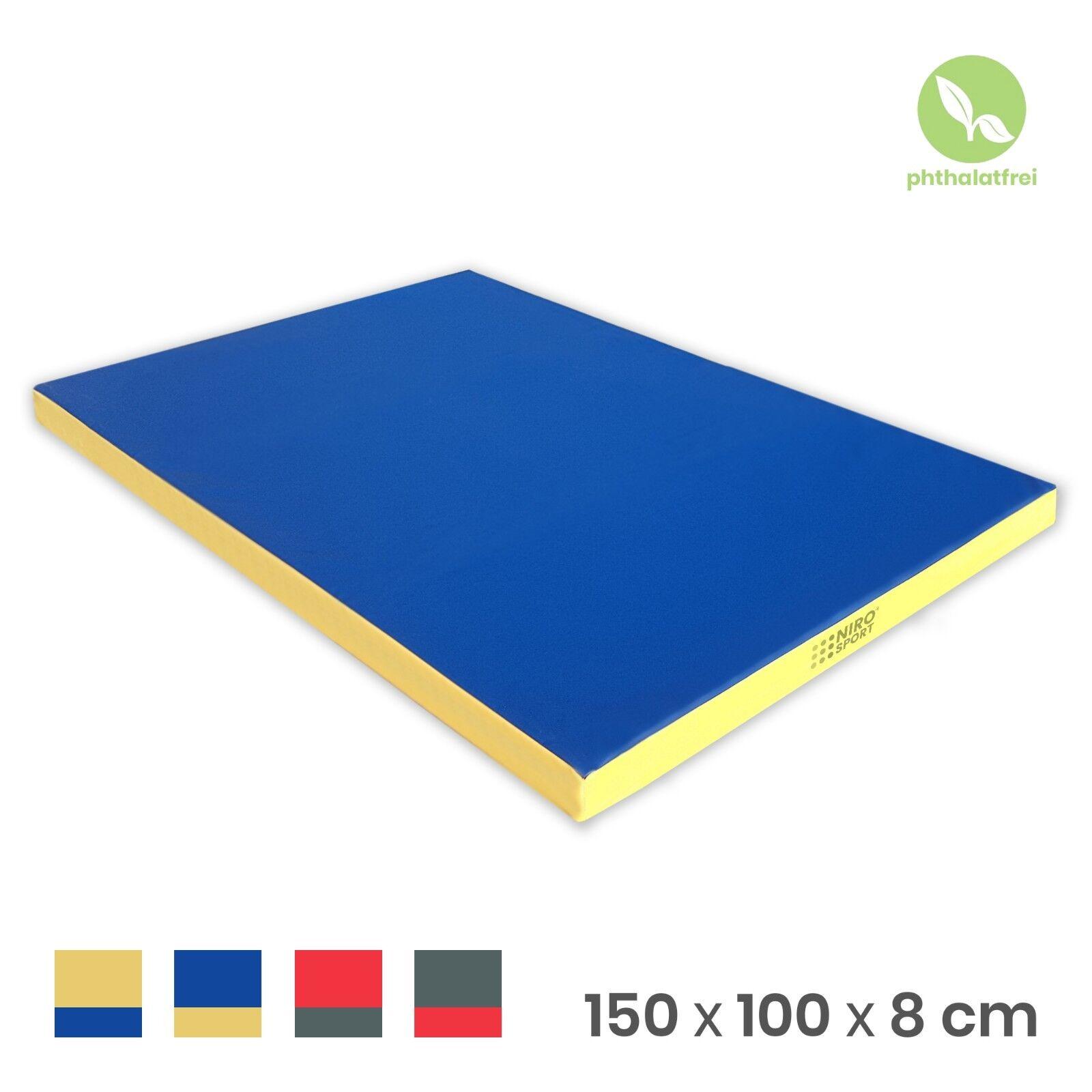 Gymnastikmatte Turnmatte Fitnessmatte Weichbodenmatte 150 x 100 x 8 cm