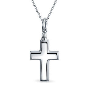 Cremation-Locket-Urn-Necklace-Pendant-Cross-925-Sterling-Silver